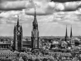 Fotobehang - Zwart wit - Delft