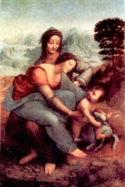 Schilderijbehang - Da Vinci - Anna Selbdritt