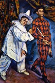 Schilderijbehang - Cézanne - Mardi Gras
