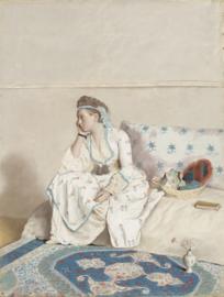Schilderijbehang - Liotard - Portet of Marie Fargues
