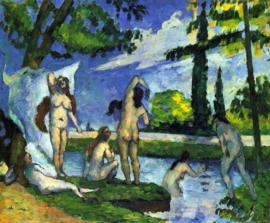 Schilderijbehang - Cézanne - Badende vrouwen - Bathers 1