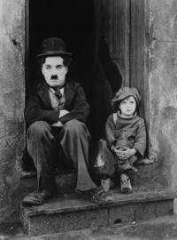 Fotobehang - Zwart wit - Charlie Chaplin