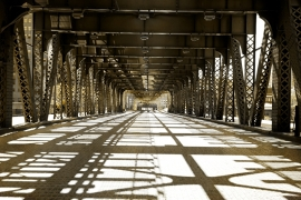Fotobehang - Steden - Chicago Bridge