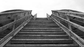 Fotobehang - Zwart-Wit - Trap 1 -Stairs 1