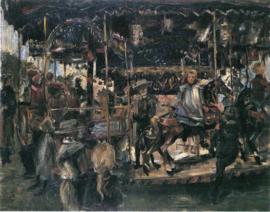 Schilderijbehang - Corinth - Kermis - De Carousel