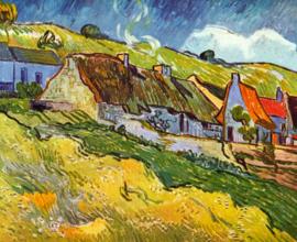 Schilderijbehang - Van Gogh - Huts in Auvers