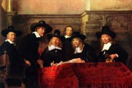 Schilderijbehang - Rembrandt - De Staalmeesters