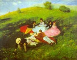Schilderijbehang - Merse - Picknick - Luncheon