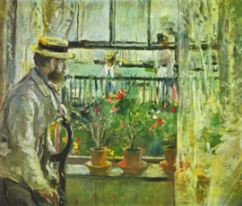 Schilderijbehang - Morisot - Eugene Manet on the Isle of Wight