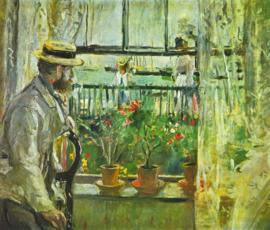 Schilderijbehang - Morisot - Eugene Manet on the Isle of Wight