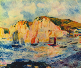Schilderijbehang - Renoir - Sea and Cliffs