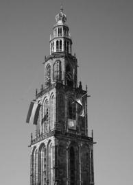 Fotobehang - Zwart wit - Martinitoren Groningen