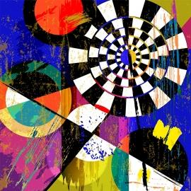 Schilderijbehang  met Abstracte Kunst - Zonder titel nr. 11