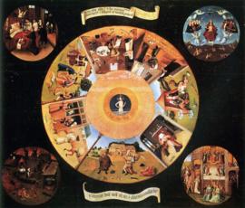Schilderijbehang - Bosch - De zeven Hoofdzonden