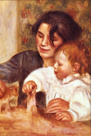 Schilderijbehang - Renoir - Gabrielle and Infant Son Jean