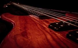 Fotobehang - Muziek - Detail Gitaar