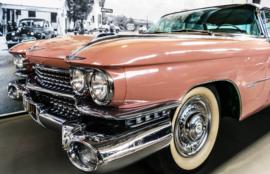 Fotobehang - Pink Cadillac - Oldtimer - Classic Car