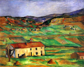 Schilderijbehang - Cézanne - Around Gardanne