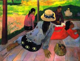 Schilderijbehang - Gauguin - Afternoon Quiet Hour
