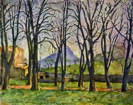 Schilderijbehang - Cézanne - Chestnut trees