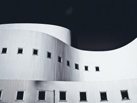 Fotobehang - Zwart-Wit - Gebouw 2 - Building 2