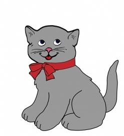 Fotobehang - Kinderkamer - Grijze kitten - Grey Kitten