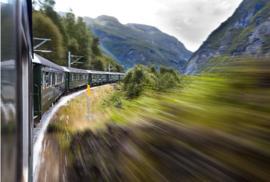 Fotobehang - Treinen - Noorwegen