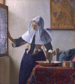 Schilderijbehang - Vermeer - De vrouw met de waterkan