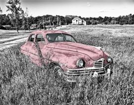 Fotobehang - Oldtimer - Oldtimer Pink