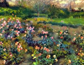 Schilderijbehang - Renoir - Rose grove