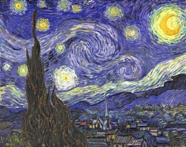 Schilderijbehang - Van Gogh - De Sterrennacht - Starry Night