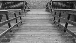 Fotobehang - Zwart-Wit - Trap 2 -Stairs 2