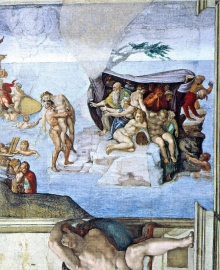 Schilderijbehang - Michelangelo - Creation Story - The Deluge