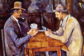 Schilderijbehang - Cézanne - The Card Players - De kaartspelers