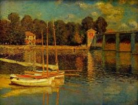 Schilderijbehang - Monet - Bridge at Argenteuil