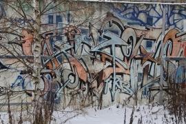 Schilderijbehang met Graffiti - Mural