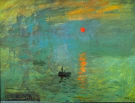 Schilderijbehang - Monet - Impression - Zonsopkomst - Sunrise