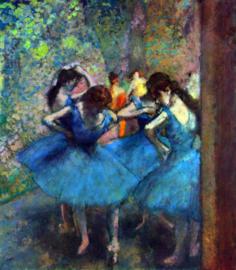 Schilderijbehang - Degas - Ballerina's