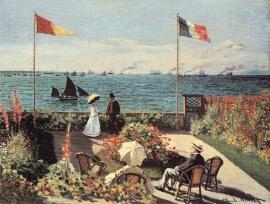 Schilderijbehang - Monet - Garden at Sainte Adresse