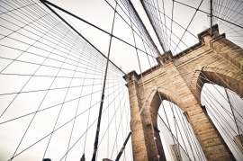 Fotobehang - New York - Brooklyn Bridge