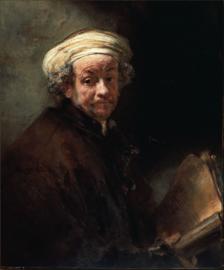 Schilderijbehang - Rembrandt - Zelfportret apostel Paulus