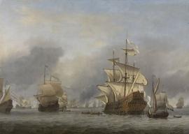 Schilderijbehang  Willem v.d. Velde II - De verovering van de Royal Prince