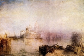 Schilderijbehang -Turner - Dogana and Santa Maria in Venice