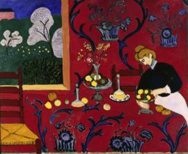 Schilderijbehang - Matisse - Red Bedroom