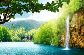 Fotobehang - Waterval - Kroatië