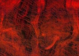 Schilderijbehang  met Abstracte Kunst - Zonder titel nr. 05