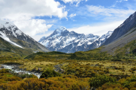 Fotobehang Bergen - Fotobehang Mt. Cook  ( Nieuw-Zeeland )