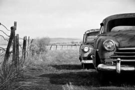Fotobehang - Zwart wit - Oldtimer - Classic Car 8