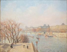 Schilderijbehang Pissarro - Winterzon - Soleil d'hiver