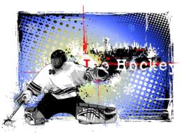 Fotobehang - IJshockey